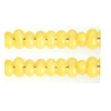 Bow Beads (Farfalle) 3.2x6.5mm Yellow Alabaster Solgel